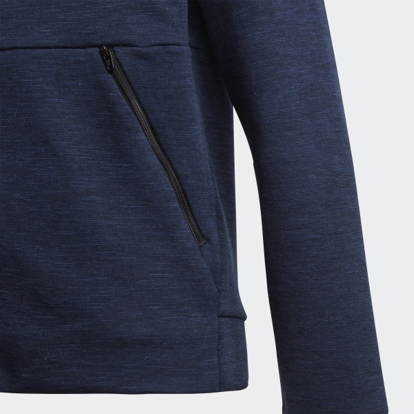 The Adidas SST Full Zip Track Top In Ash Blue Men's Full Zip