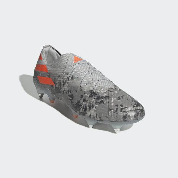 Scarpe da calcio Nemeziz 19+ Soft Ground Grigio adidas