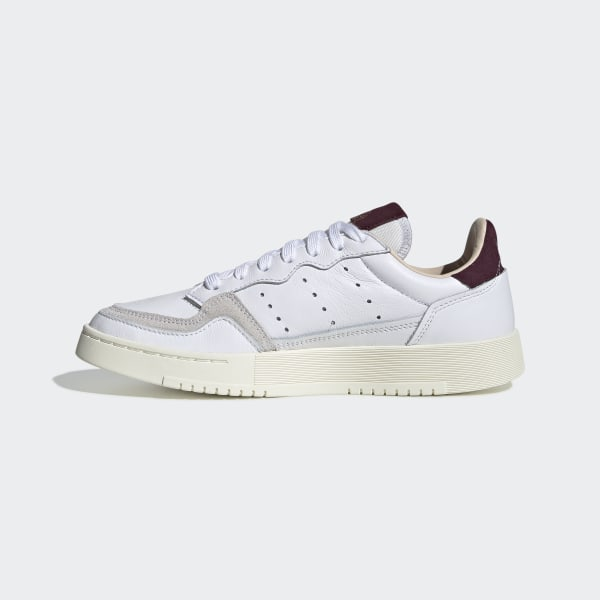 Supercourt Shoes Cloud White / Cloud White / Maroon EF9225