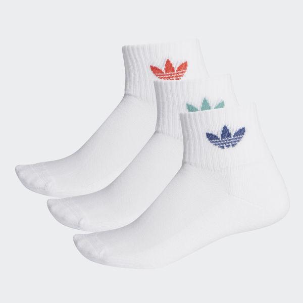 Calze Mid Cut (3 paia) Bianco adidas | adidas Italia