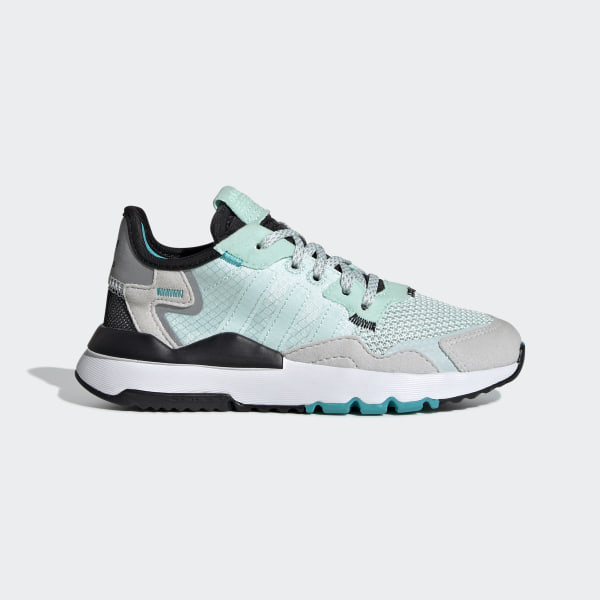 Adidas Originals Nite Jogger in white and ice mint