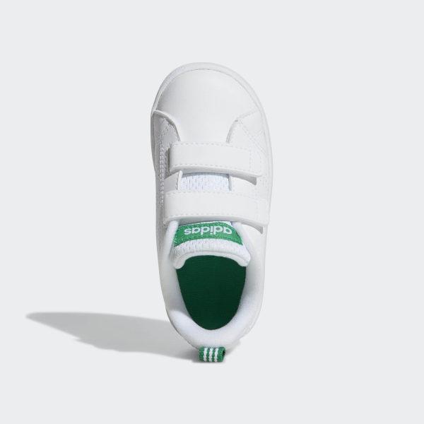 Adidas Advantage White Green AW4889 Toddler Strap Shoes