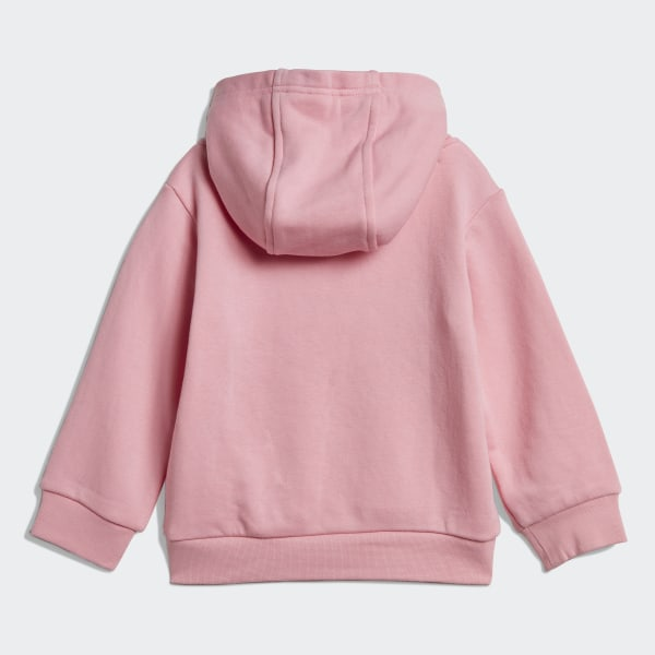 adidas Performance Logo Hoodie and Leggings Set Pink and