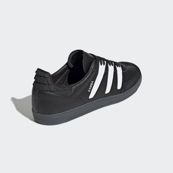 adidas samba nero and red