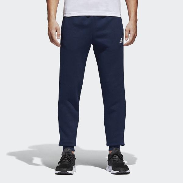 adidas Essentials Tapered Fleece Broek - Blauw | adidas Officiële Shop