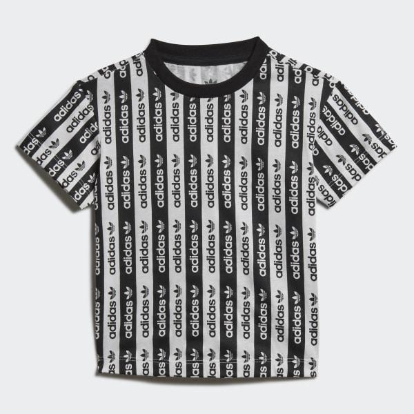 oben sale adidas Allover Print Linear Crew Sweatshirt Blue