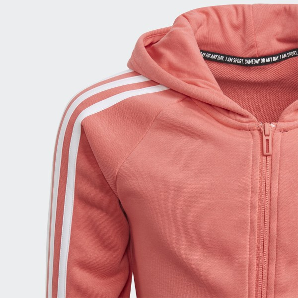 adidas Casaco com Capuz 3 Stripes Must Haves Rosa | adidas Portugal
