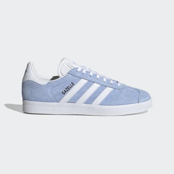 adidas gazelle blancas y azules
