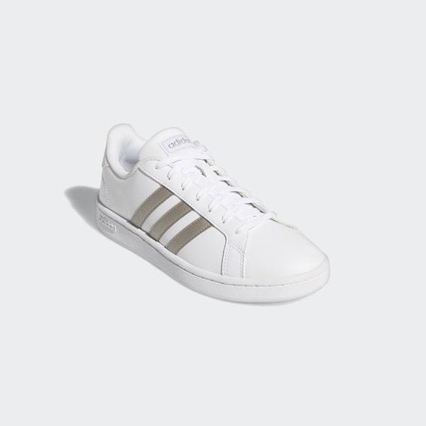 adidas grand court blanc or