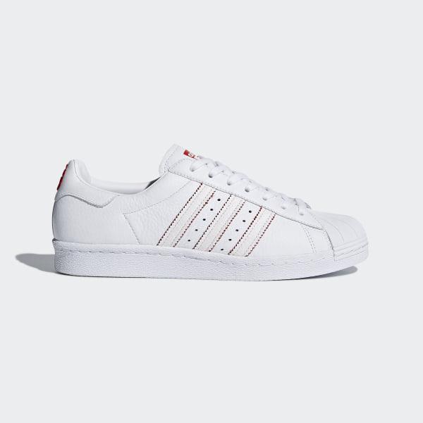 Adidas Originals Superstar 80s CNY Leather White Scarlet Men Shoe Sneaker DB2569