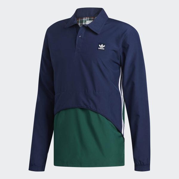 adidas Pullover Coach Jacket Blue   adidas Australia