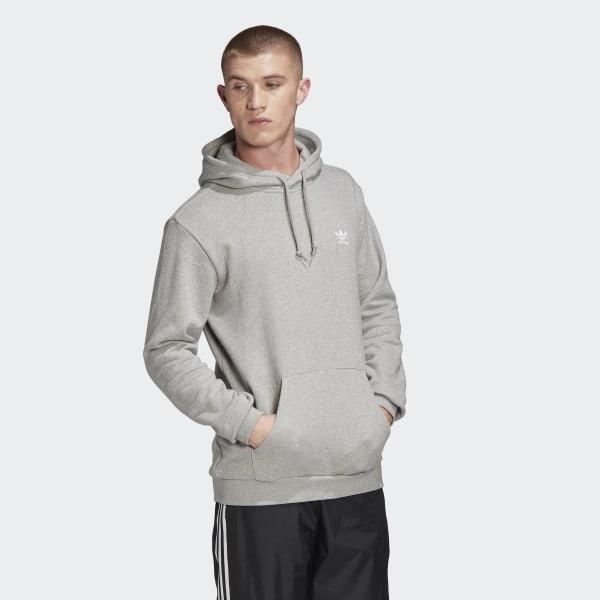 adidas Originals: Grey Trefoil Essentials Hoodie | SSENSE
