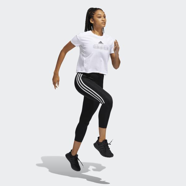adidas running 3 stripes tights