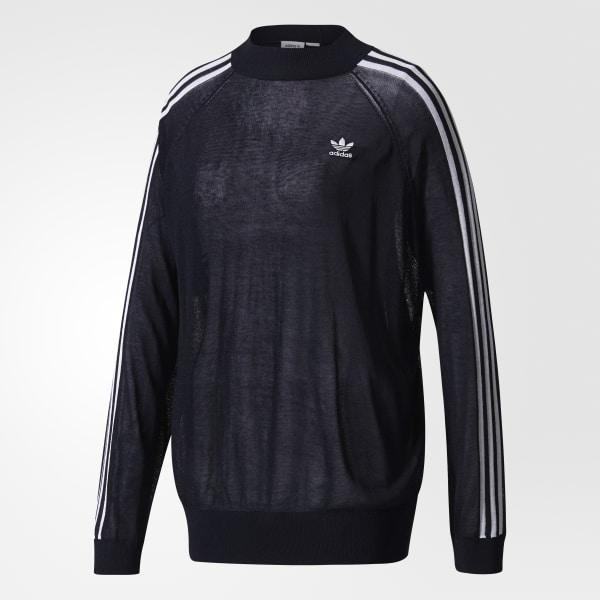 el más nuevo 4ed2e 576ed adidas Suéter 3-Stripes - Negro | adidas Mexico