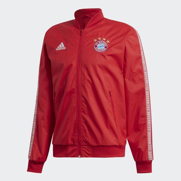 adidas FC Bayern München Anthem Jacke Rot | adidas Deutschland