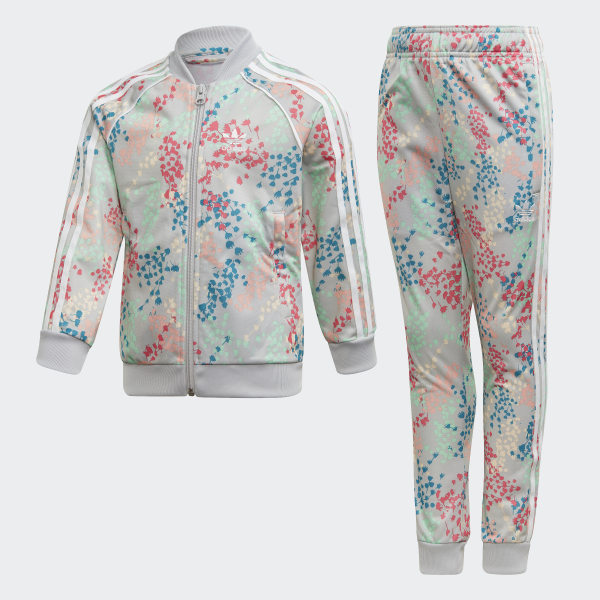 Adidas Trefoil floral multicolor bomber jacket NWT