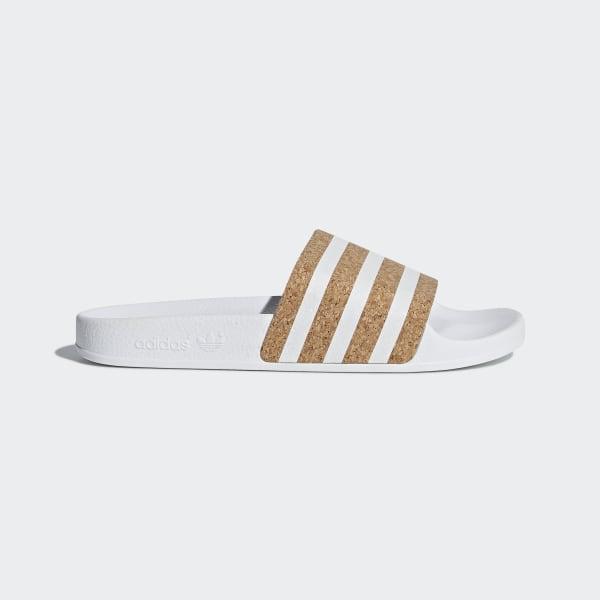 Adidas Originals Adilette Primeknit chaussettes blanc