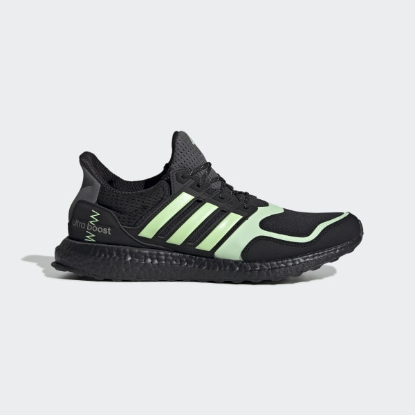 Ultraboost S&L Schoenen Core Black / Glow Green / Grey FV7284