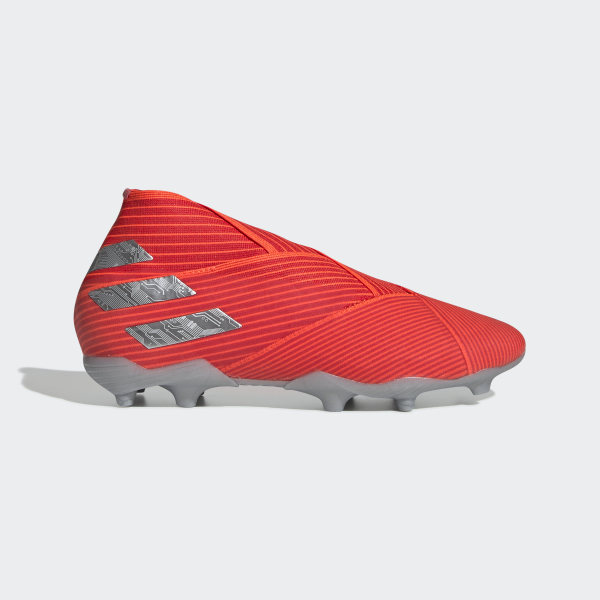 Adidas Soccer Cleats No Laces RedSilver Firm Ground