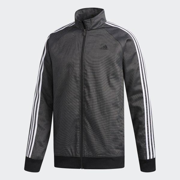 adidas Essentials 3 Stripes Tricot Jacket Black | adidas US