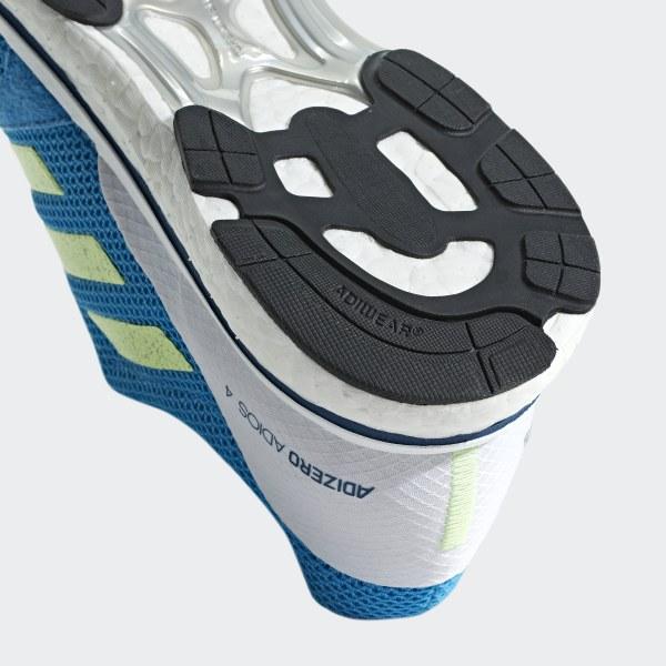 adidas Adizero Adios 4 Shoes Herren shock cyanhi res yellowlegend marine