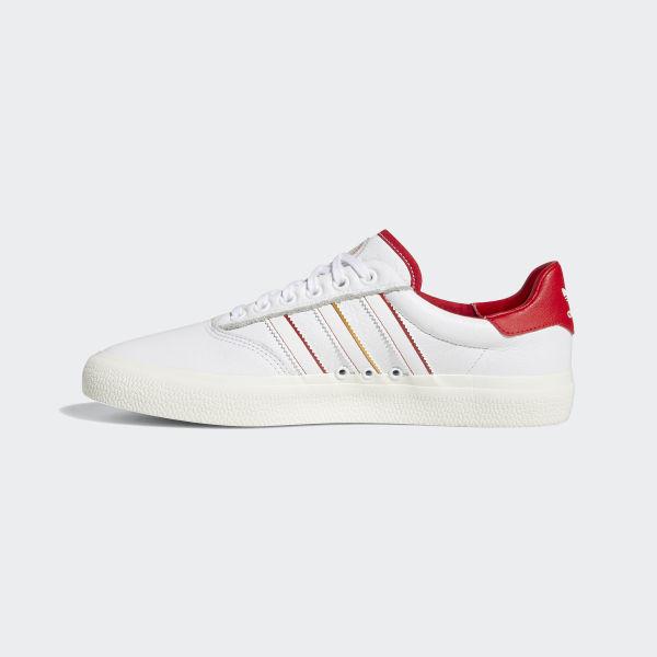 adidas Skateboarding 3MC x Evisen footwear white scarlet gold metallic