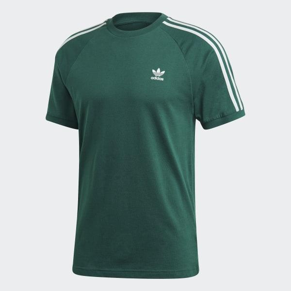 Camiseta 3 bandas Collegiate Green ED5956