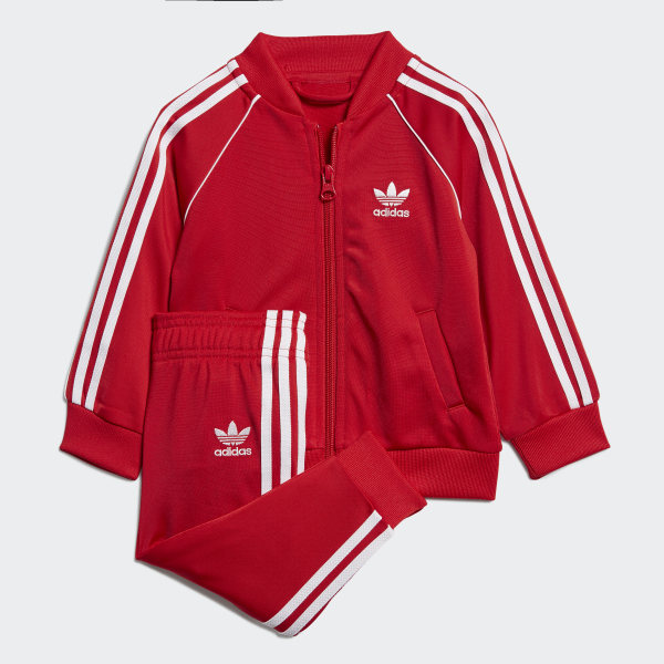 famous brand on feet images of save up to 80% adidas SST Trainingsanzug - Rot | adidas Austria