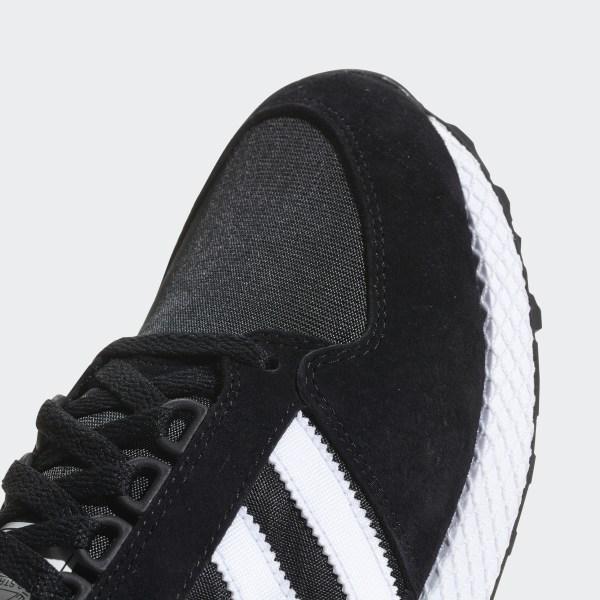 ADIDAS ORIGINALS MEN'S Forest Grove Shoe NEW BlackWhite B41550 Trefoil