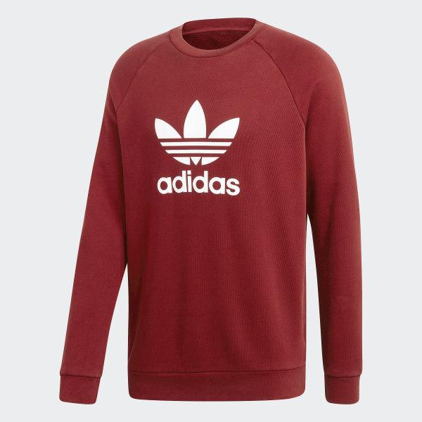 adidas Big Trefoil Crew Sweatshirt Red | adidas US