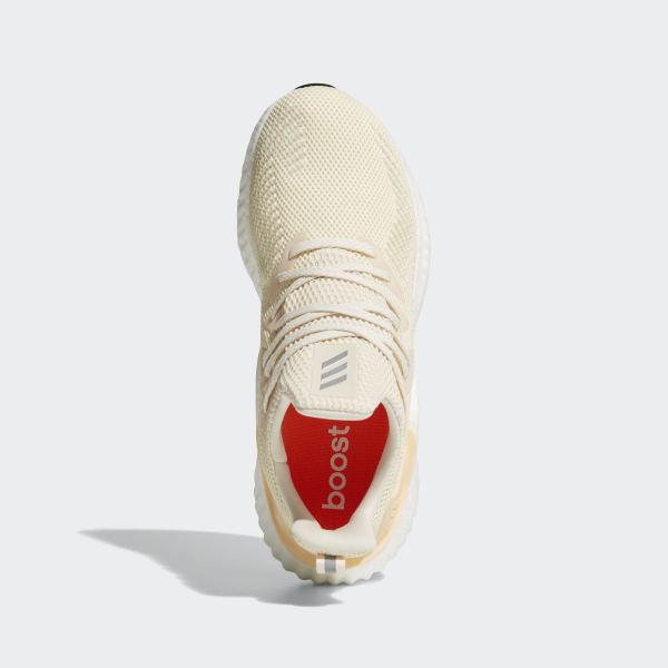 Alphaboost Shoes Ecru Tint / Silver Metallic / Glow Orange G28565
