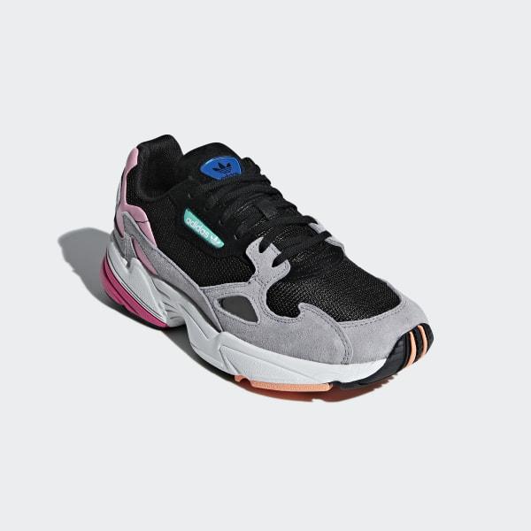 adidas Originals Retro Damen Sneaker Falcon Weiß, Größenauswahl:40