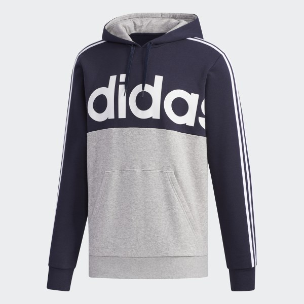 Details about Adidas Men's Essential Colorblock Pullover Hoodie