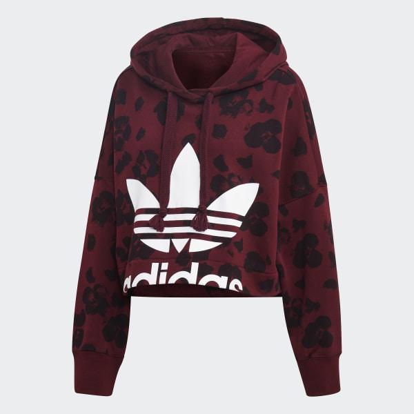 adidas hoodie donna burgundy