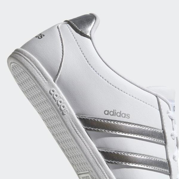 Gute Qualität adidas Coneo QT Leder Ladies Trainers Weiß