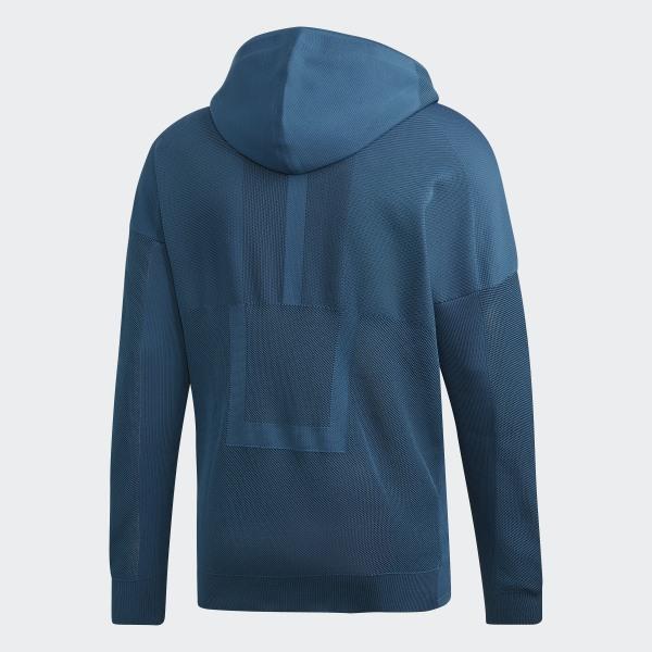 adidas Z.N.E. Parley Primeknit Hoodie Blue Mens   Adidas z