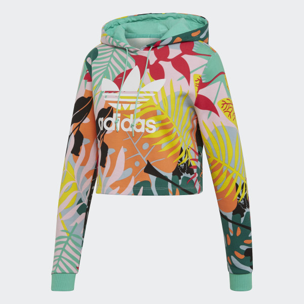 Sweat shirt à capuche Tropicalage Cropped