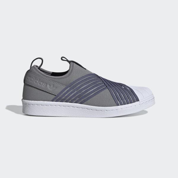 adidas superstar slip on grey