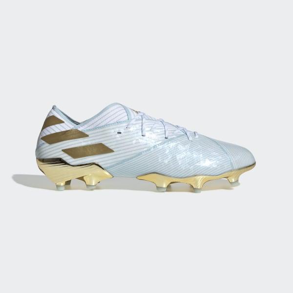 Scarpe da Calcio adidas Nemeziz Messi 19.3 FG 15Y Bianco