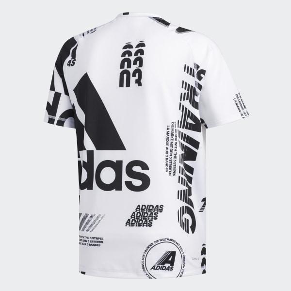 adidas FreeLift Daily Print T Shirt Weiß | adidas Austria