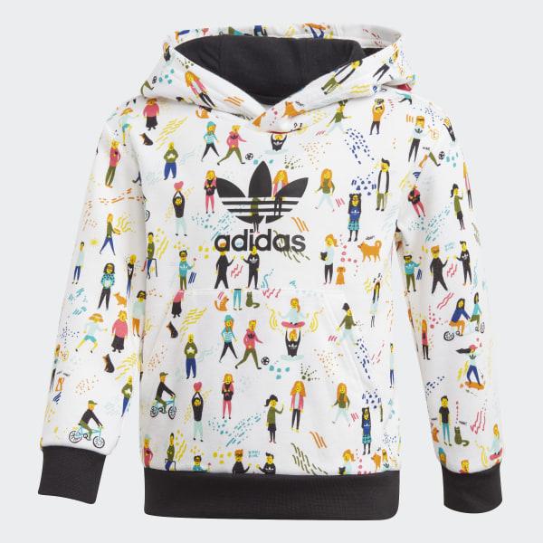 adidas jacke schwarz gold, adidas SET Kapuzenpullover