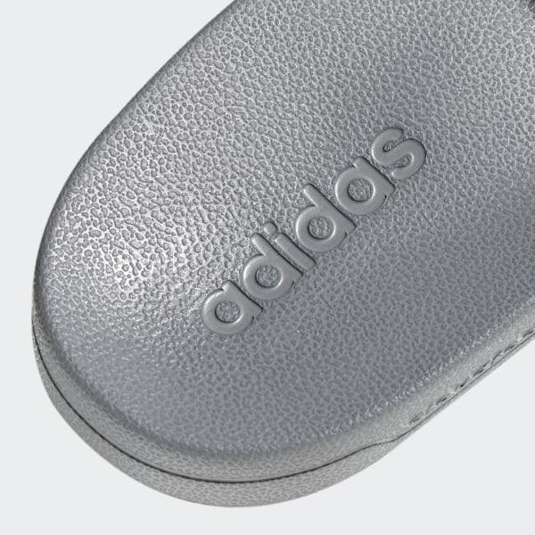 ciabatte adidas bianche strisce grigie