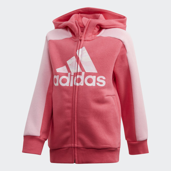 grey and red adidas hoodie