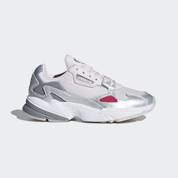 womens white & pink adidas falcon trainers | schuh