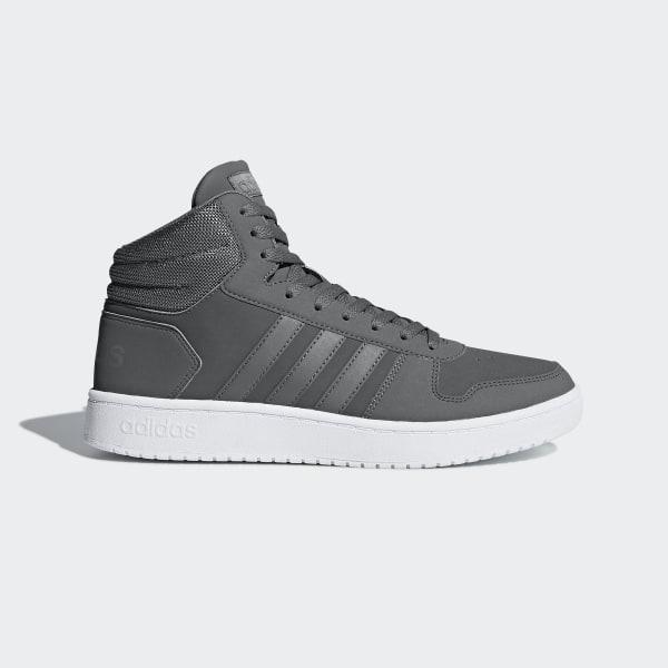 adidas Hoops 2.0 Mid Shoes Grey | adidas US