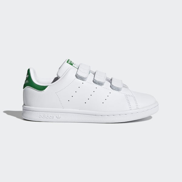 adidas Originals Stan Smith Black Hook and Loop Trainers