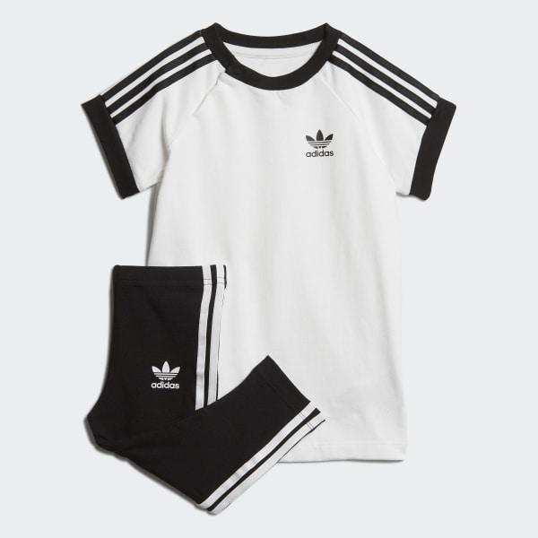 super jakość piękno wylot adidas Zestaw z sukienką 3-Stripes - Bialy   adidas Poland