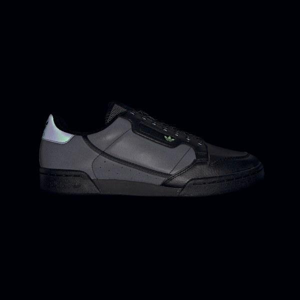 Adidas Originals Continental 80 Core BlackHi Res Yellow