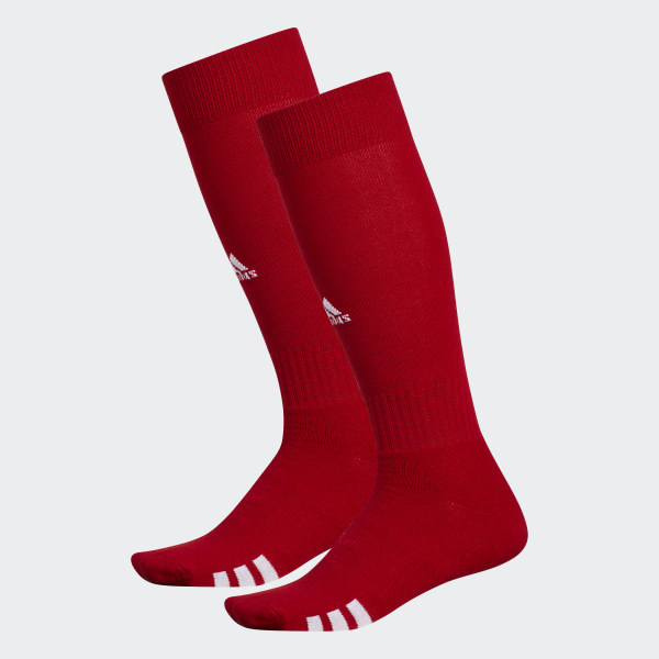 S Adidas Mens Team Speed Climalite Traxion Crew Socks Red SIZE --NEW