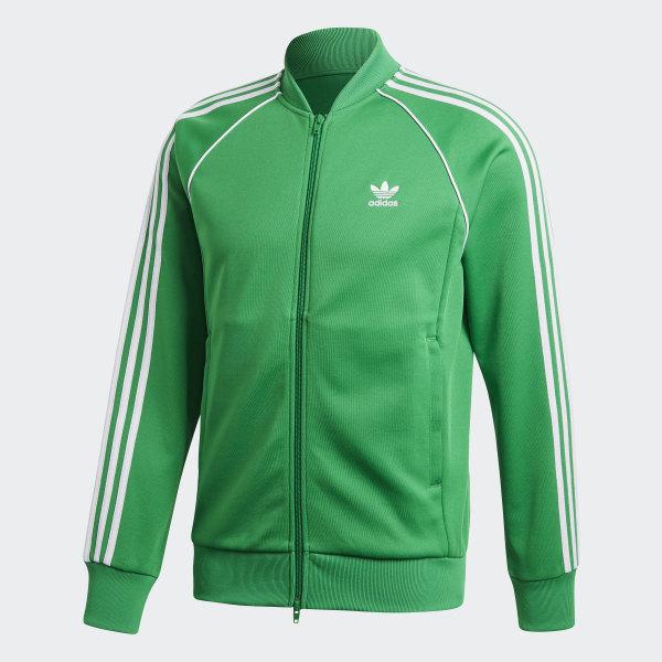adidas originals superstar track trefoil retro green